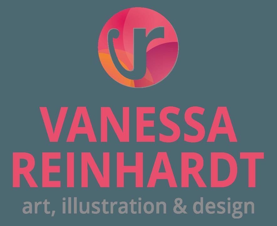 Logo zentriert: VANESSA REINHARDT - art, illustration & design - Grafik-Designerin B.A.