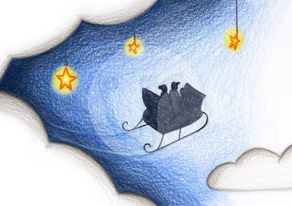 """Illustrationen (S.11) für mein Kinderbuch """"Besuch in der Weihnachtswerkstatt"""""""