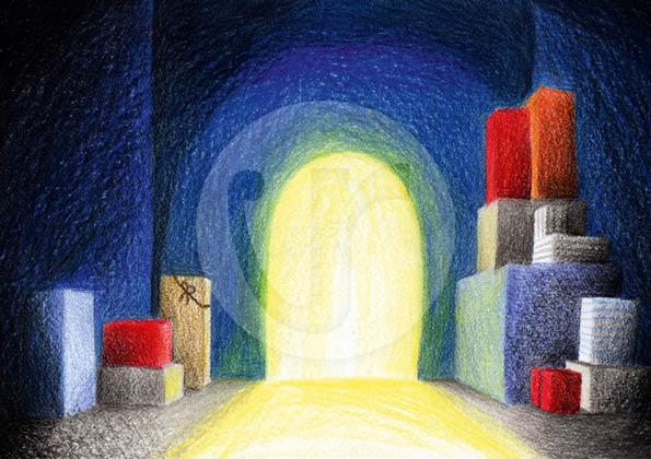 """Illustrationen (S.23) für mein Kinderbuch """"Besuch in der Weihnachtswerkstatt"""""""
