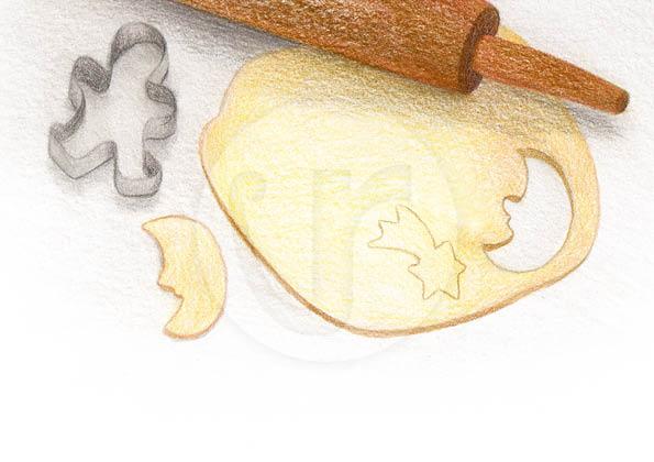 """Illustrationen (S.4) für mein Kinderbuch """"Besuch in der Weihnachtswerkstatt"""""""