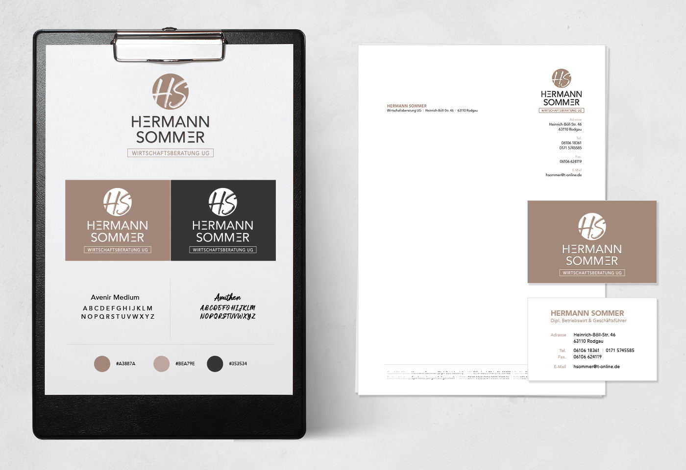 Geschäftsausstattung und Corporate Design: HERMANN SOMMER Wirtschaftsberatung UG