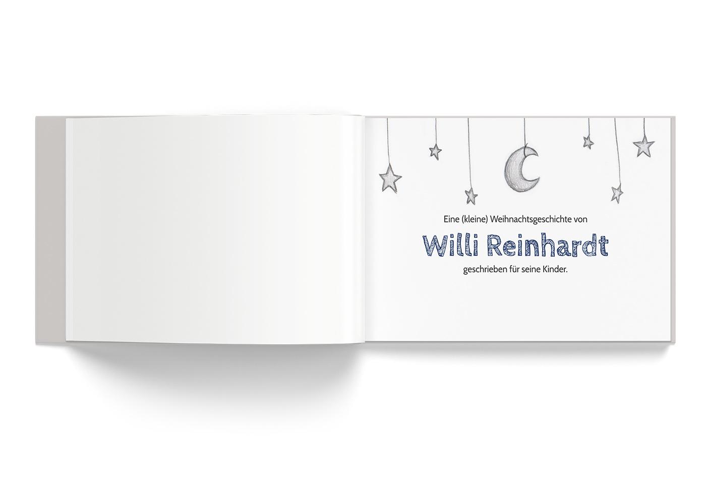 """Buch-Gestaltung/Illustrationen (S.2) für mein Kinderbuch """"Besuch in der Weihnachtswerkstatt"""""""
