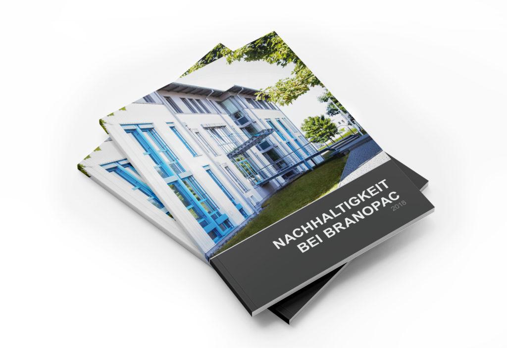Broschüren-/Buchgestaltung und Infografiken/Illustrationen: BRANOpac Nachhaltigkeitsbericht (Cover)