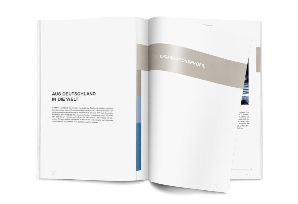 Broschüren-/Buchgestaltung und Infografiken/Illustrationen: BRANOpac Nachhaltigkeitsbericht (Auszug - S.8)