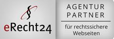 eRecht24 - Agentur-Partner-Siegel für rechtssichere Webseiten