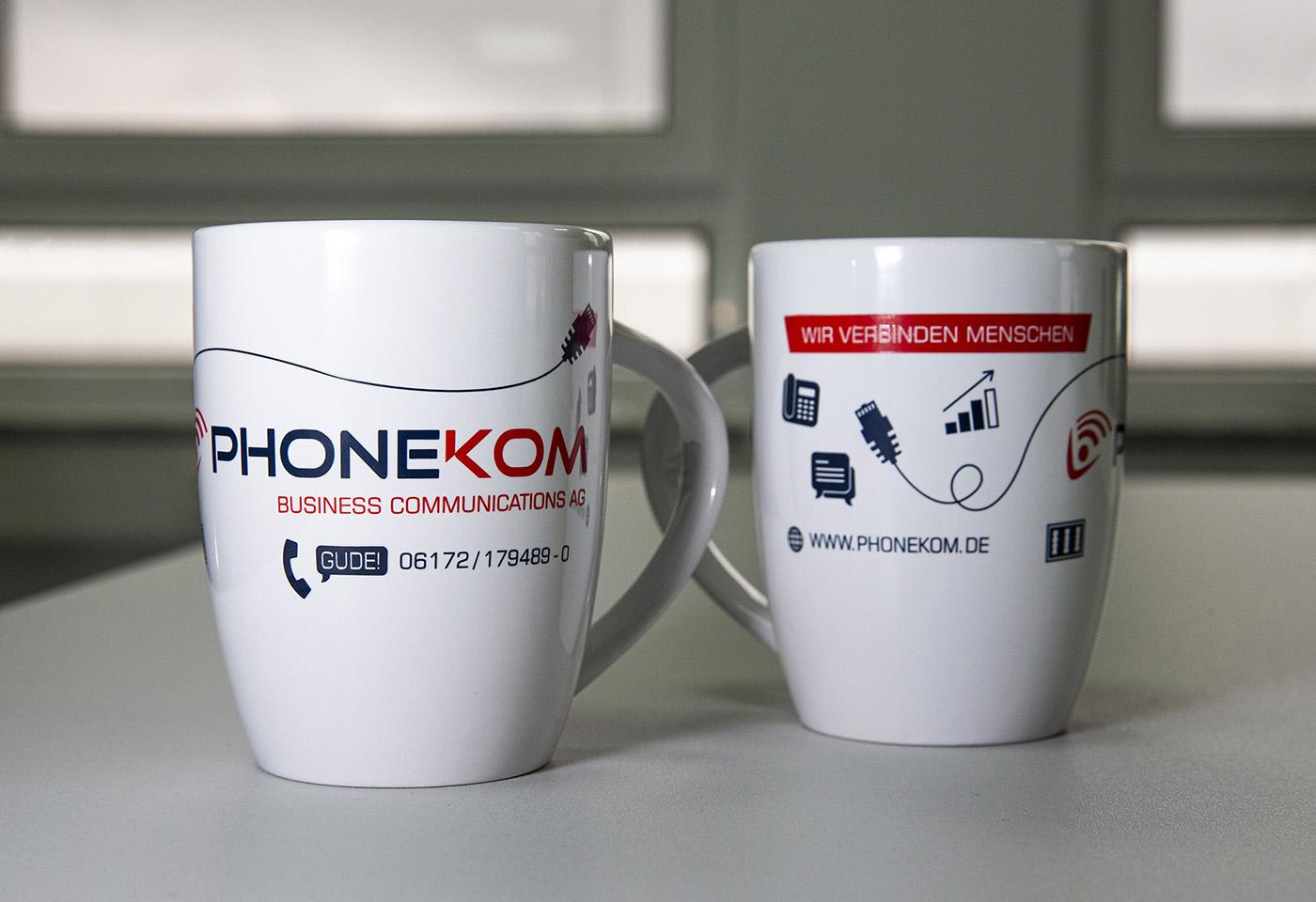 Merchandising/Tassendesign: PHONEKOM Business Communications AG