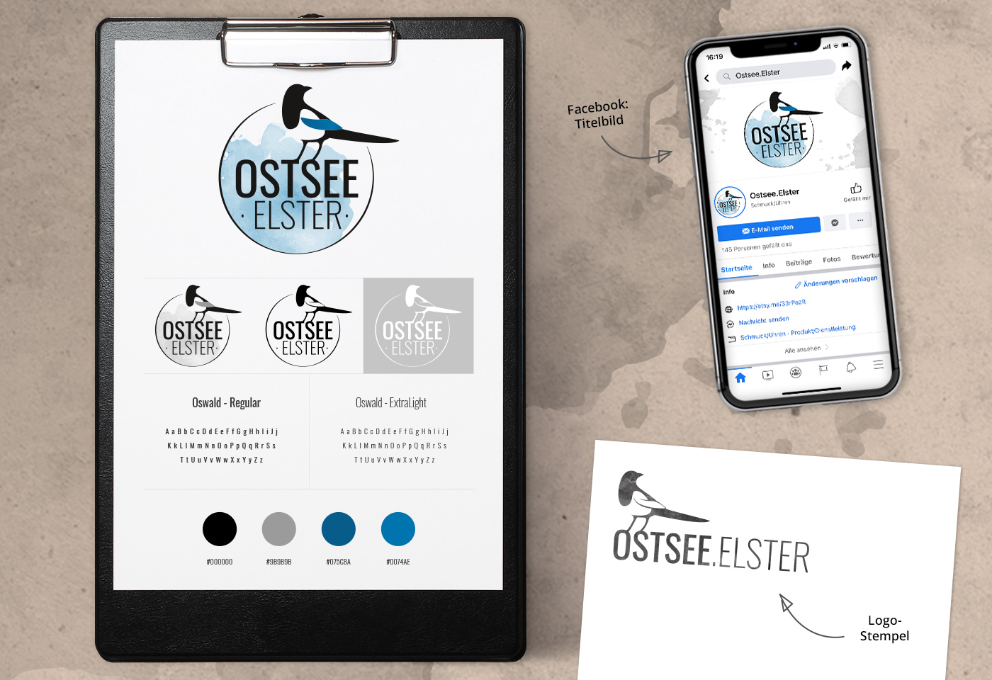 Logo- & Corporate-Design: Ostsee.Elster
