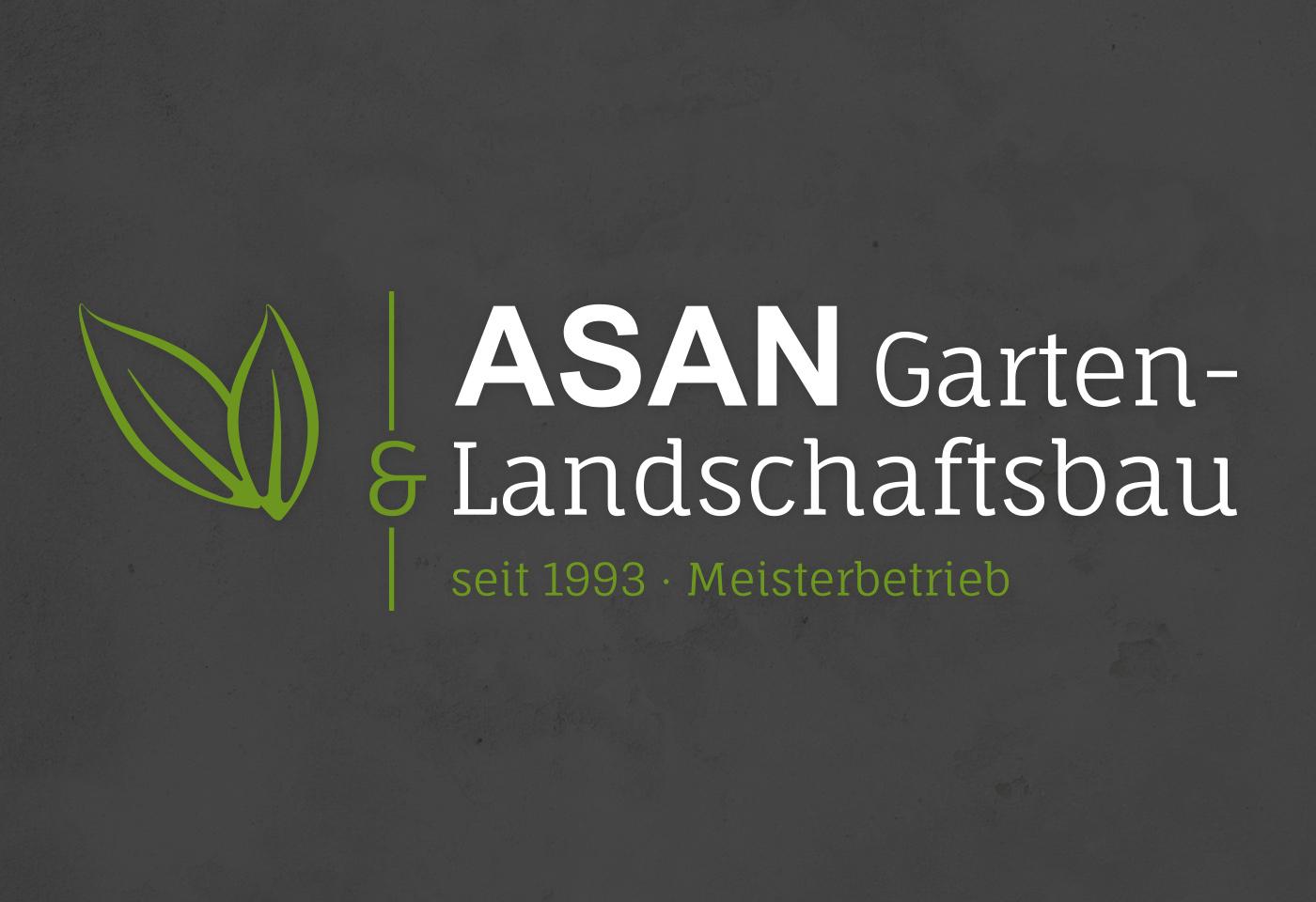 Logodesign: ASAN Garten- & Landschaftsbau bei Gießen
