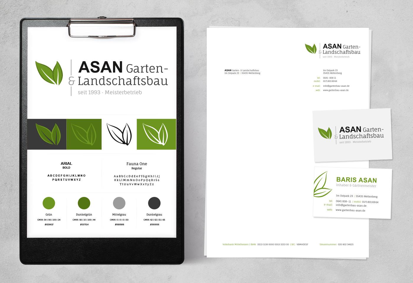Logo- & Corporate-Design: ASAN Garten- & Landschaftsbau bei Gießen