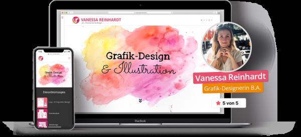 Vanessa Reinhardt - Webbanner - Grafik-Design & Webdesign
